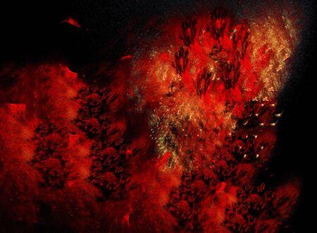 turbulent: Turbulent fire Stock Photo