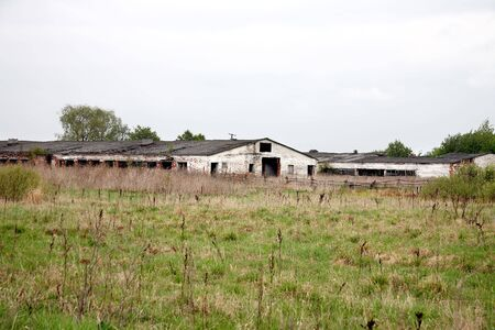 decrepitude: Cowshed Stock Photo