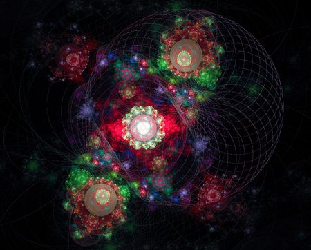 Magnetic fields of planets Stock Photo - 3067575