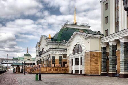 Building of the station is in town Krasnoyarsk