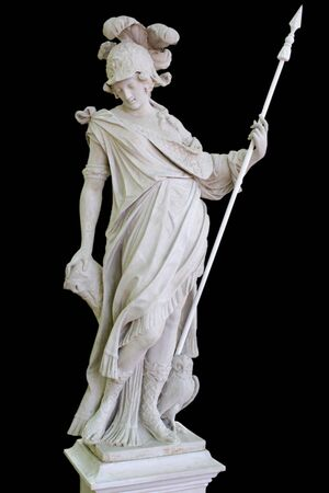 sculptor: Minerva, sculptor Kvellinus,1690 year Stock Photo