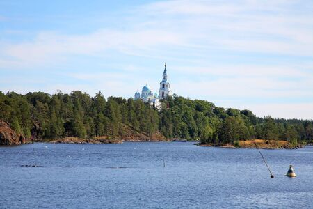 Spaso-Preobrazhenskiy  monastery on an island Valaam Stock Photo - 3440662