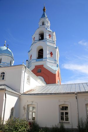 Spaso-Preobrazhenskiy  monastery on an island Valaam photo