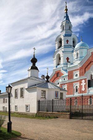 Spaso-Preobrazhenskiy  monastery on an island Valaam photo