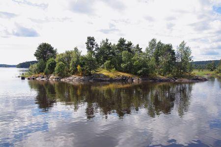 Islands on Ladoge Stock Photo - 3469329