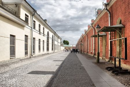 A street is in the Petropavlovskoy fortress photo