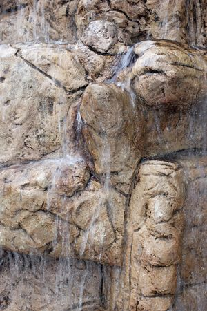 Artificial waterfall photo