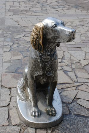 faithfulness: Monument of canine faithfulness and to the friendship  Stock Photo