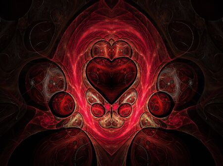 Decorative pattern with a heart  photo