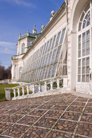 Museum � farmstead Kuskovo. Large stone hothouse photo