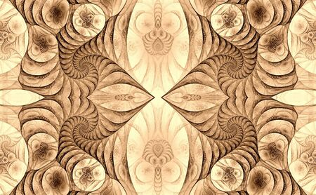 Kaleidoscope, sepia Stock Photo - 3914517