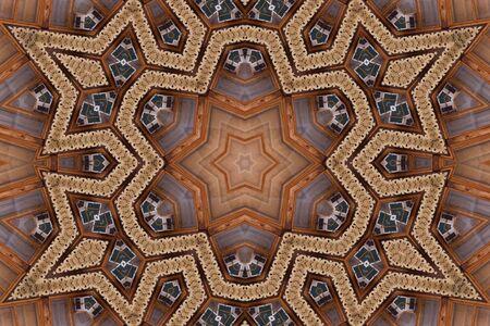 Kaleidoscope, linoleum Stock Photo - 4161530