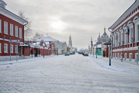 In the territory of the Kremlin in Kolomna city
