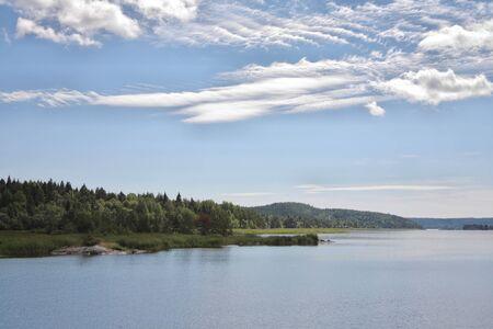 Islands in the Ladoga lake Stock Photo - 4467422