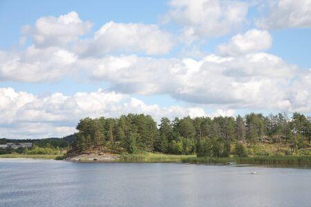 Islands in the Ladoga lake Stock Photo - 4467413