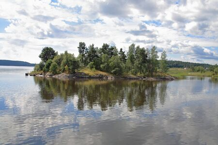 Islands in the Ladoga lake Stock Photo - 4467418