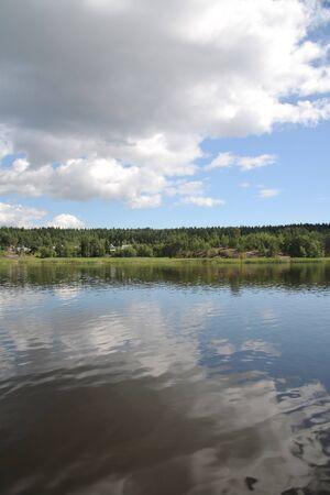 Islands in the Ladoga lake Stock Photo - 4467410
