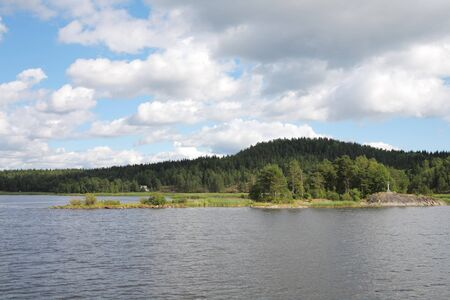 Islands in the Ladoga lake Stock Photo - 4467513