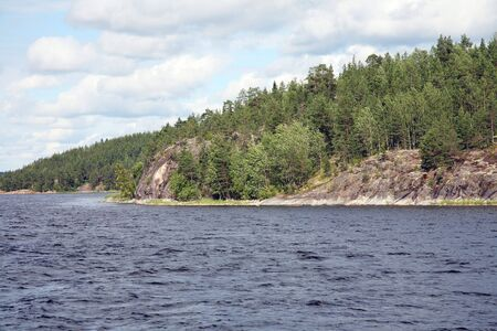 Islands in the Ladoga lake Stock Photo - 4467517