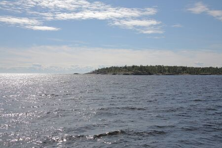 Islands in the Ladoga lake Stock Photo - 4467424