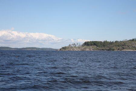 Islands in the Ladoga lake Stock Photo - 4467416