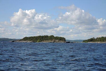 Islands in the Ladoga lake photo
