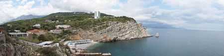 Landscape from the height of the Swallow's  nest   Stock Photo - 5298393
