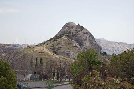sudak: Rock near a city Sudak