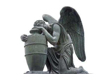 天使、19 世紀のネクロポリス 写真素材