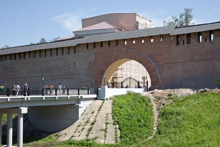 An age-old fortress is in town Great Novgorod Stock Photo - 6060456
