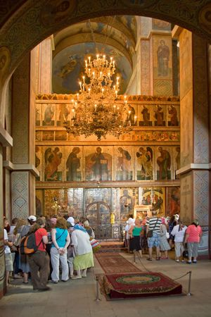 iconostasis: The Sofia cathedral is in town Great Novgorod