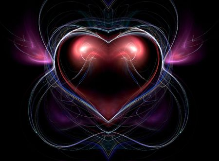 To the holiday of Sainted Valentine. Heart.  photo