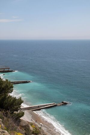 lowering: View of the coast of the Black sea