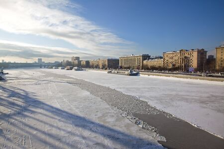 Winter landscape. A city and river is Moscow Stock Photo - 6384122