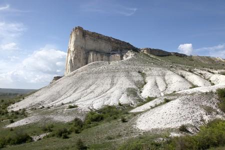 subtropics: Crimea, una montagna � la scogliera bianca Archivio Fotografico