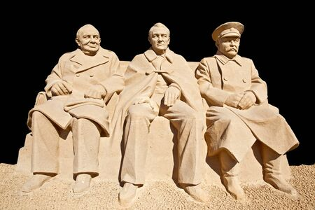commissioner: Figures from the sand. Meeting is in Yalta