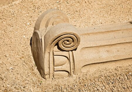 pilaster: Figures from the sand  Stock Photo