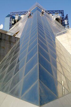 Washing of windows Stock Photo