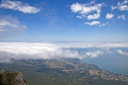 Clouds above a city Yalta photo