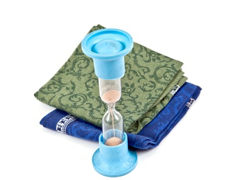 handkerchiefs: Clock and handkerchiefs
