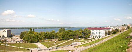 Panorama of city Samara from the hill Stock Photo - 7535626