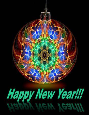 newyear: New-year ball Stock Photo