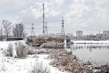 First snow, landscape Stock Photo - 7639227