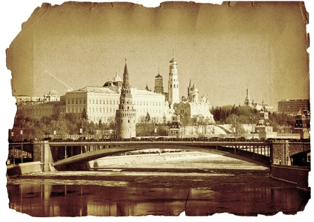 kremlin: Moskou, Kremlin, de collage Stockfoto
