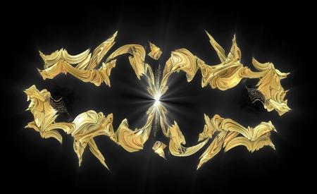 Fractal. Emblem photo