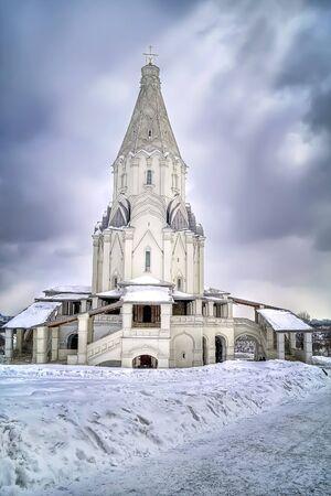 Church of Ascension. Tone correction photo