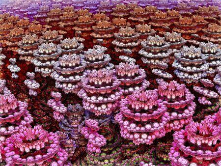 glade: Fractal. Floral glade Stock Photo