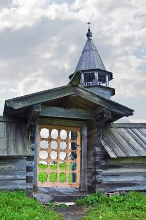 Entrance on a monasterial cemetery photo