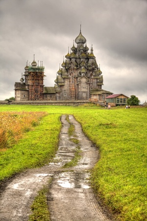 dampness: Ancient temple on an island  Kizhi