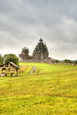 Ancient temple on an island  Kizhi Stock Photo - 9225269